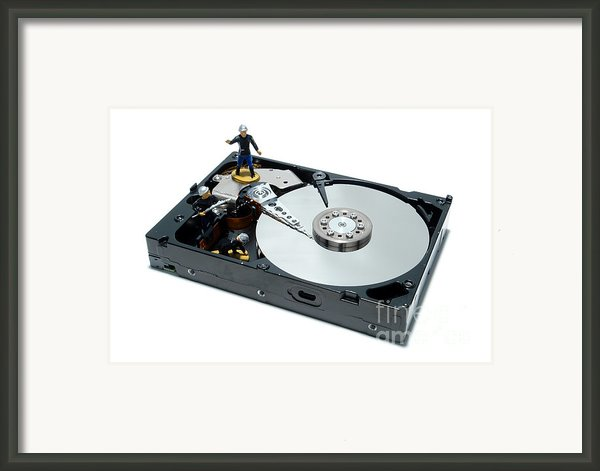 Hard Drive Firewall Framed Print By Olivier Le Queinec