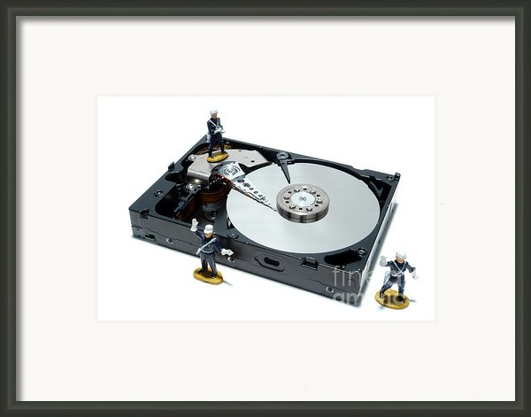 Hard Drive Security Framed Print By Olivier Le Queinec