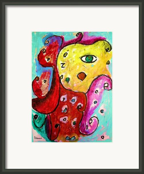 Harlequin Framed Print By Venus
