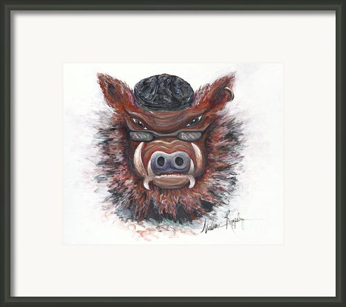 Harley Hog Framed Print By Nadine Rippelmeyer