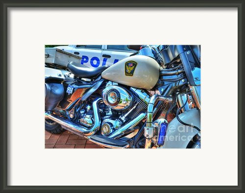 Harleys In Cincinnati 2 Framed Print By Mel Steinhauer