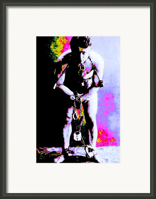 Harry Houdini - 20130208 Framed Print By Wingsdomain Art And Photography