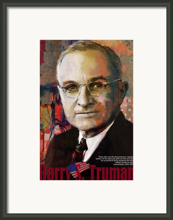 Harry S. Truman Framed Print By Corporate Art Task Force