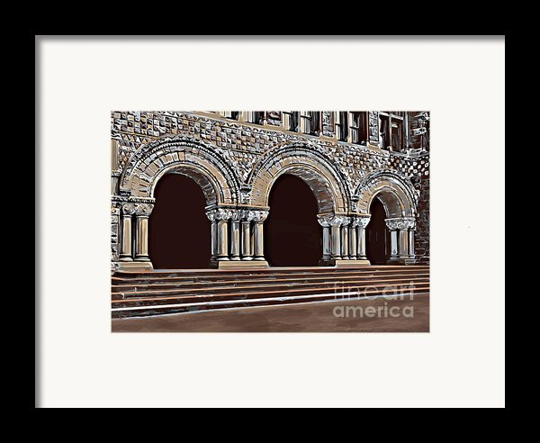 Harvard  Entrance To Law School   C1900 Framed Print By Andrzej Szczerski