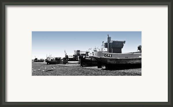 Hastings Fleet Framed Print By Sharon Lisa Clarke