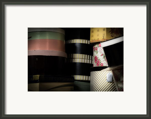 Hat Boxes 25 Dollars Framed Print By Bob Orsillo
