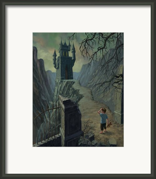 Haunted Castle Nightmare Framed Print By Martin Davey