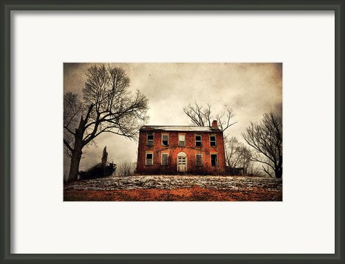 Haunted In The Brick Framed Print By Emily Stauring