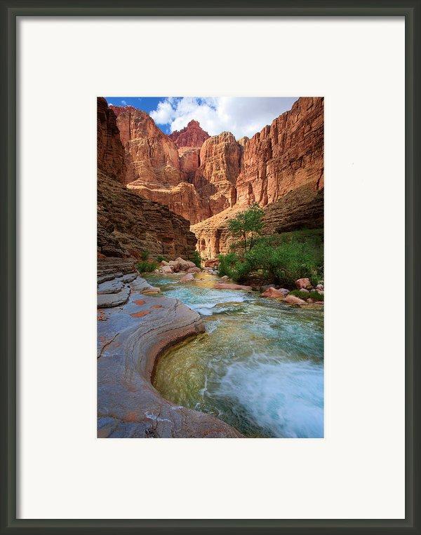 Havasu Creek Framed Print By Inge Johnsson