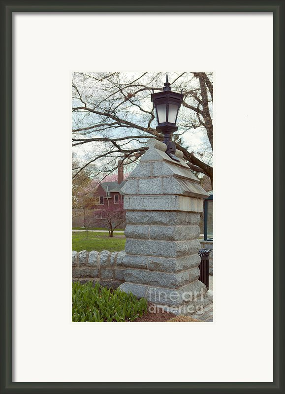 Haverford College Entrance Framed Print By Kay Pickens