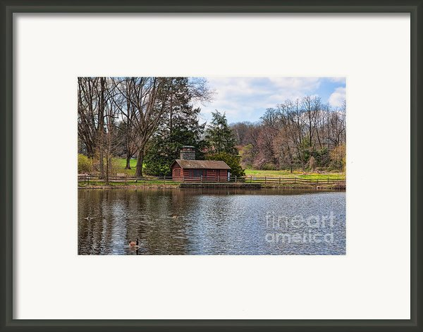 Haverford Skating Cabin Framed Print By Kay Pickens