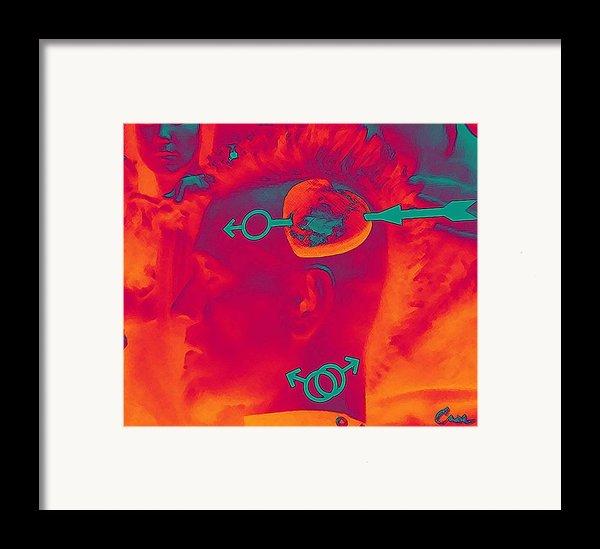 Hawk Cut Valentine 2012 Framed Print By Feile Case