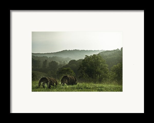 Hay Bales Framed Print By Shane Holsclaw
