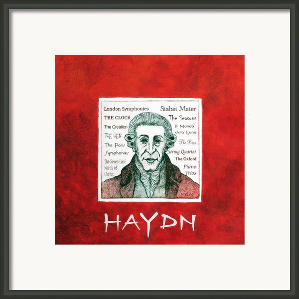 Haydn Portrait Framed Print By Paul Helm