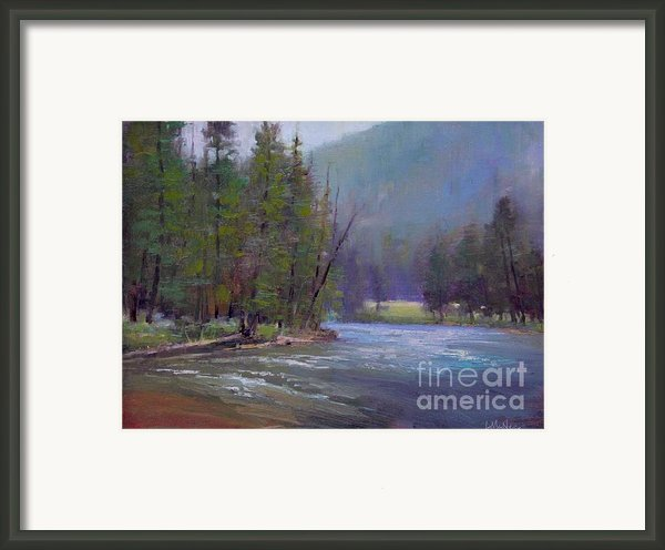 Hazy Day On The Gallatin  Framed Print By Lori  Mcnee