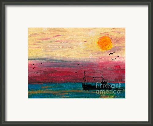 Hazy Late Framed Print By R Kyllo