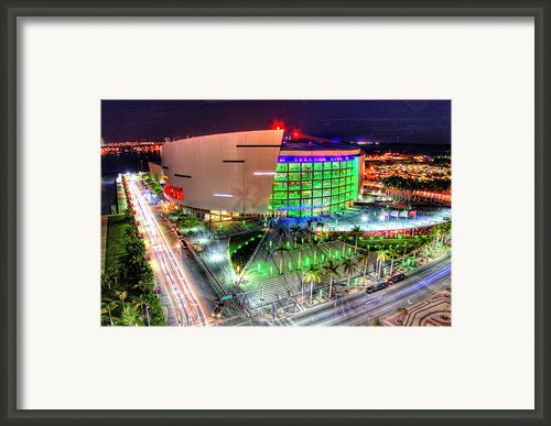 Hdr Of American Airlines Arena Framed Print By Joe Myeress