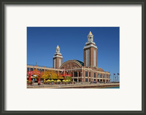 Headhouse Chicago Navy Pier Framed Print By Christine Till