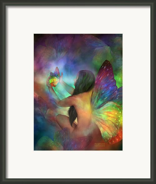 Healing Transformation Framed Print By Carol Cavalaris