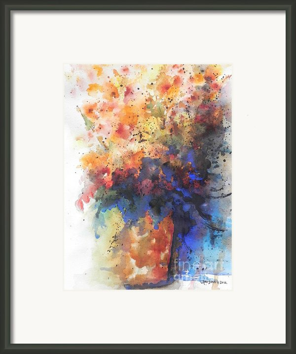 Healing With Blue Framed Print By Chrisann Ellis