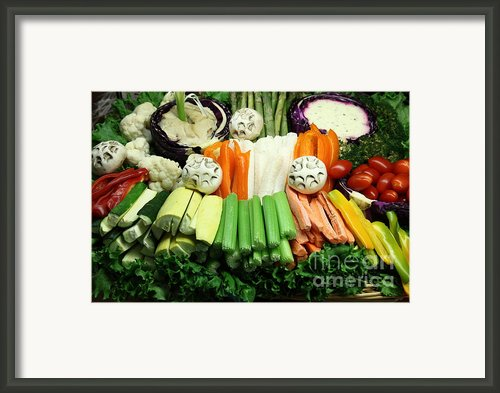 Healthy Veggie Snack Platter - 5d20688 Framed Print By Wingsdomain Art And Photography