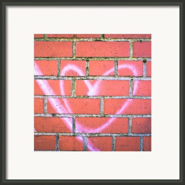 Heart Graffiti Framed Print By Tom Gowanlock
