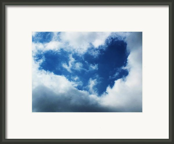 Heart In The Sky Framed Print By Anna Villarreal Garbis