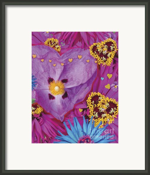 Heart Juxtaposition Framed Print By Alixandra Mullins