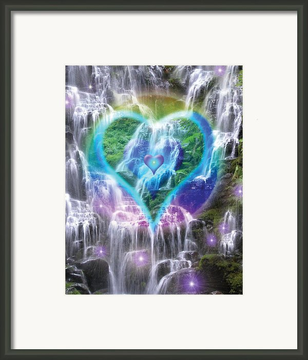 Heart Of Waterfalls Framed Print By Alixandra Mullins