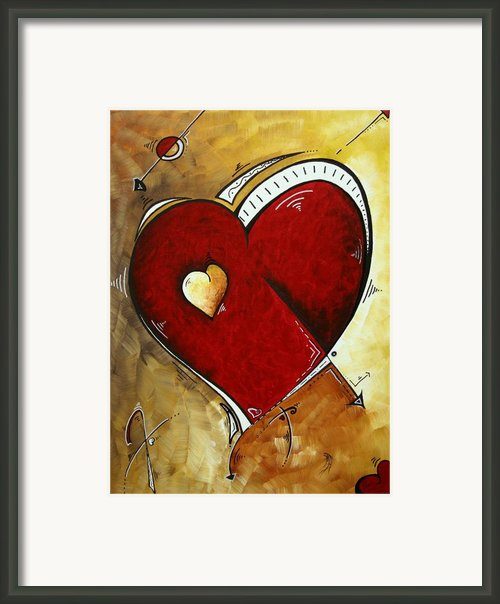 Heartbeat By Madart Framed Print By Megan Duncanson