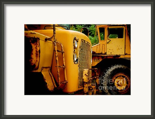 Heavy Equipment Framed Print By Amy Cicconi