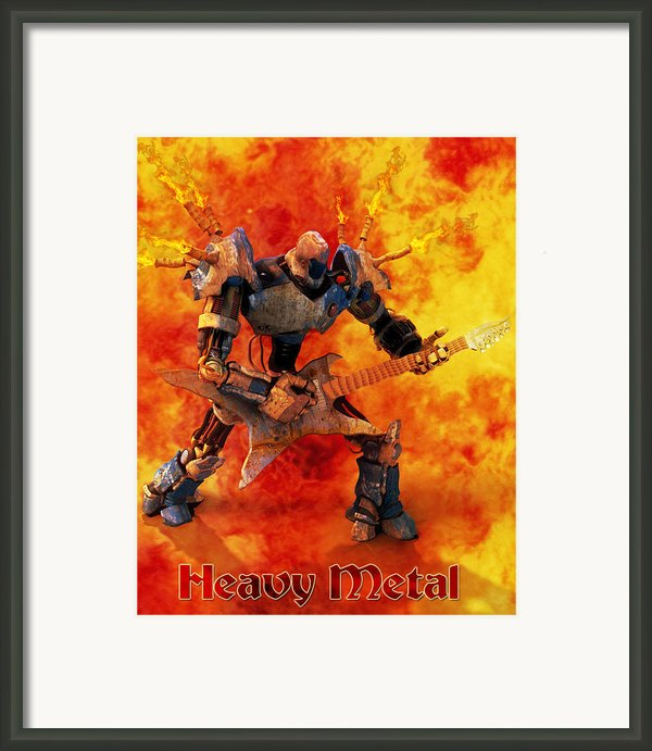 Heavy Metal Framed Print By Frederico Borges