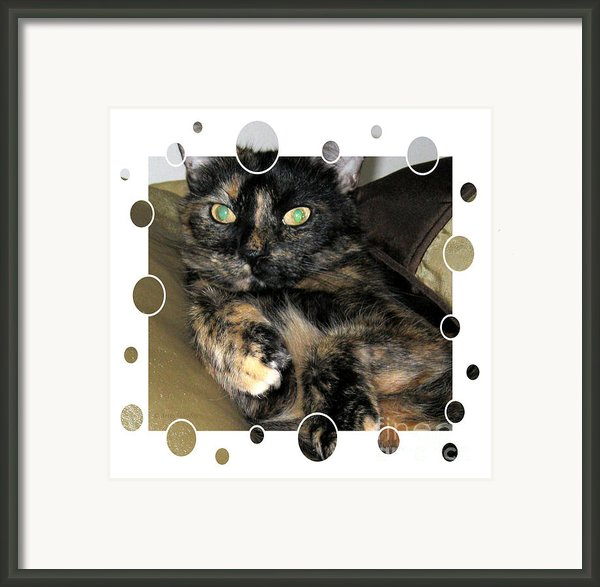 Hello Kitty Card Framed Print By Oksana Semenchenko