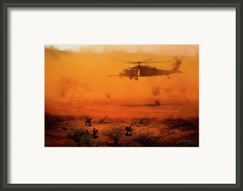 Help Arrives Framed Print By Dale Jackson