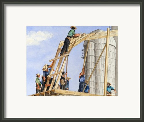 Helping Hands Helping Hearts Framed Print By John W Walker