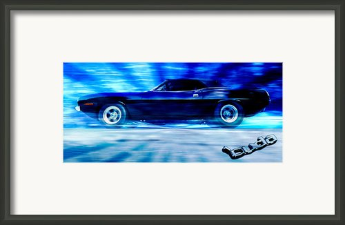 Hemi Cuda Framed Print By Phil