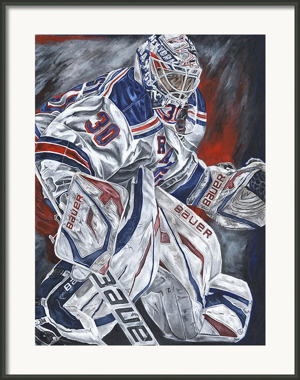Henrik Lundqvist Framed Print By David Courson