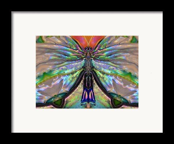 Her Heart Has Wings - Spiritual Art By Sharon Cummings Framed Print By Sharon Cummings