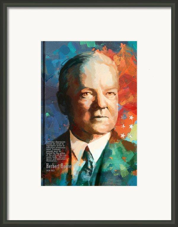 Herbert Hoover Framed Print By Corporate Art Task Force