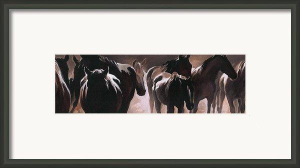 Herd Of Horses Framed Print By Natasha Denger
