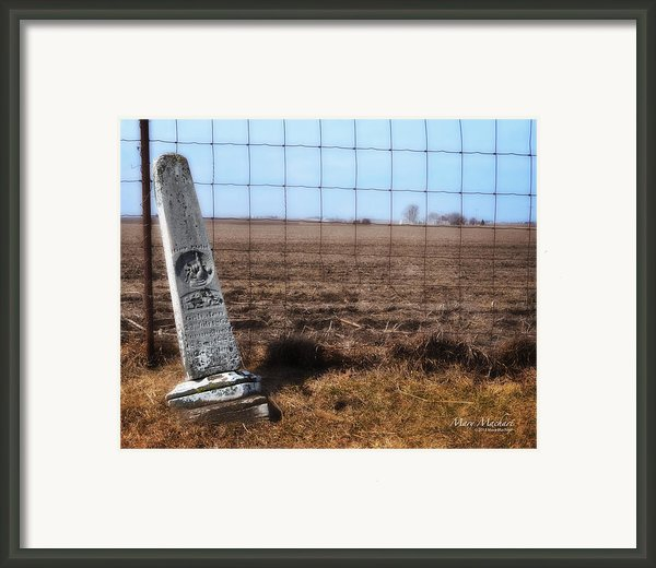 Here Lies George Neve - Walcott Iowa  Framed Print By Mary Machare