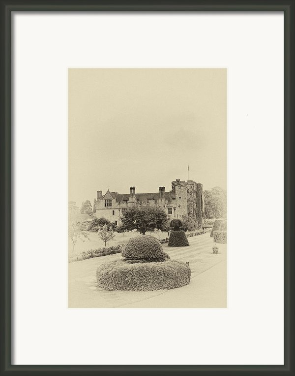 Hever Castle Yellow Plate 2 Framed Print By Chris Thaxter