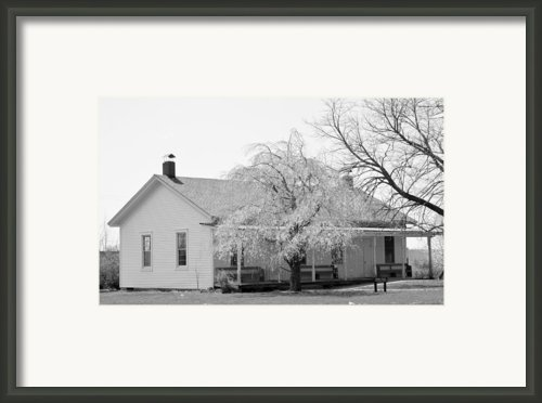 Hickory Grove Meeting House Framed Print By Corrie Blackshear
