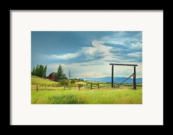 High Country Farm Framed Print By Theresa Tahara