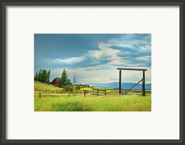 High Country Farm Framed Print By Theresa Tahara