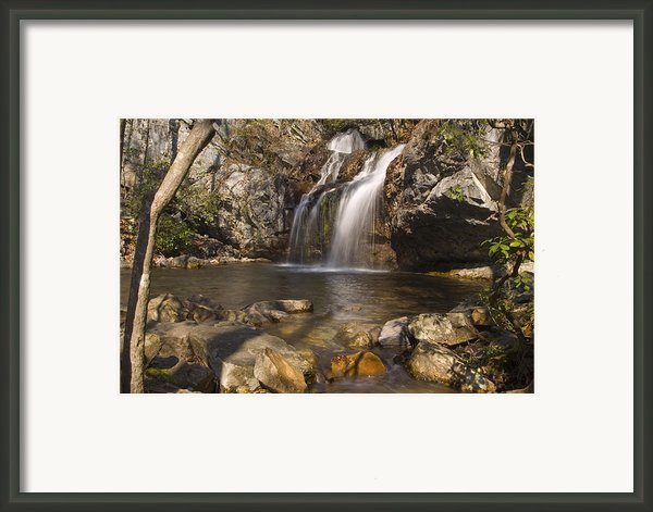 High Falls Talledega National Forest Alabama Framed Print By Charles Beeler