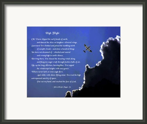 High Flight Framed Print By Mike Flynn