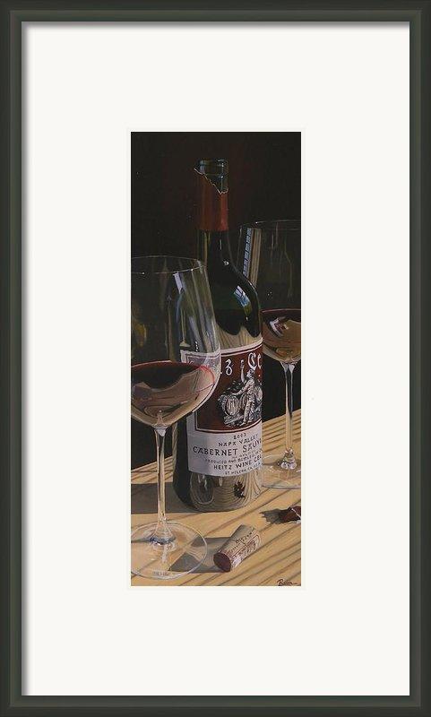 Higher Heitz Framed Print By Brien Cole