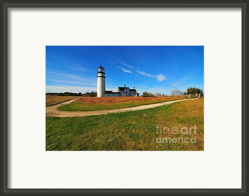 Highland Point Light Framed Print By Catherine Reusch  Daley