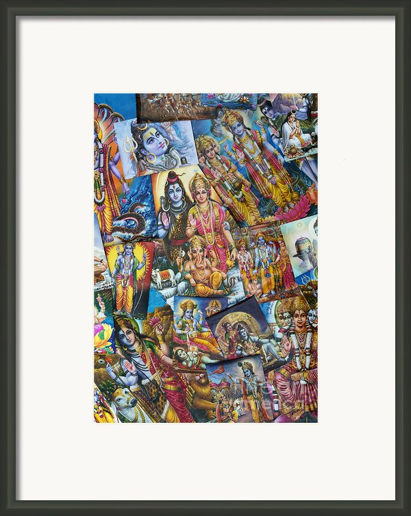 Hindu Deity Posters Framed Print By Tim Gainey